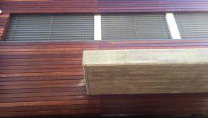 חיפוי עץ למבנה